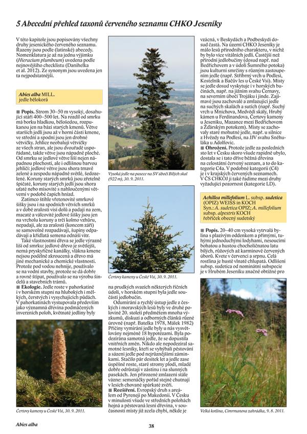 Chráněné a ohrožené rostliny CHKO Jeseníky